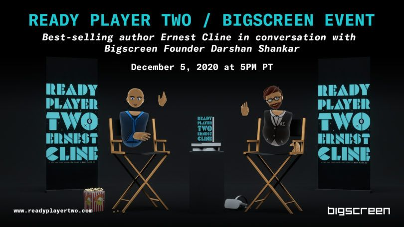 Bigscreen VR will hold a Q&A with Ready Player One author Ernest Cline