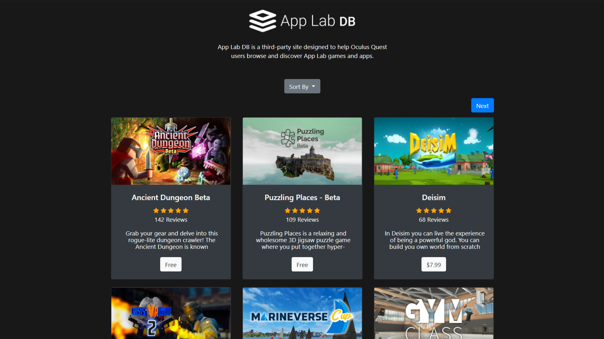 Rob Chinery's Unofficial App Lab unlisted games and apps store is one of the most popular.