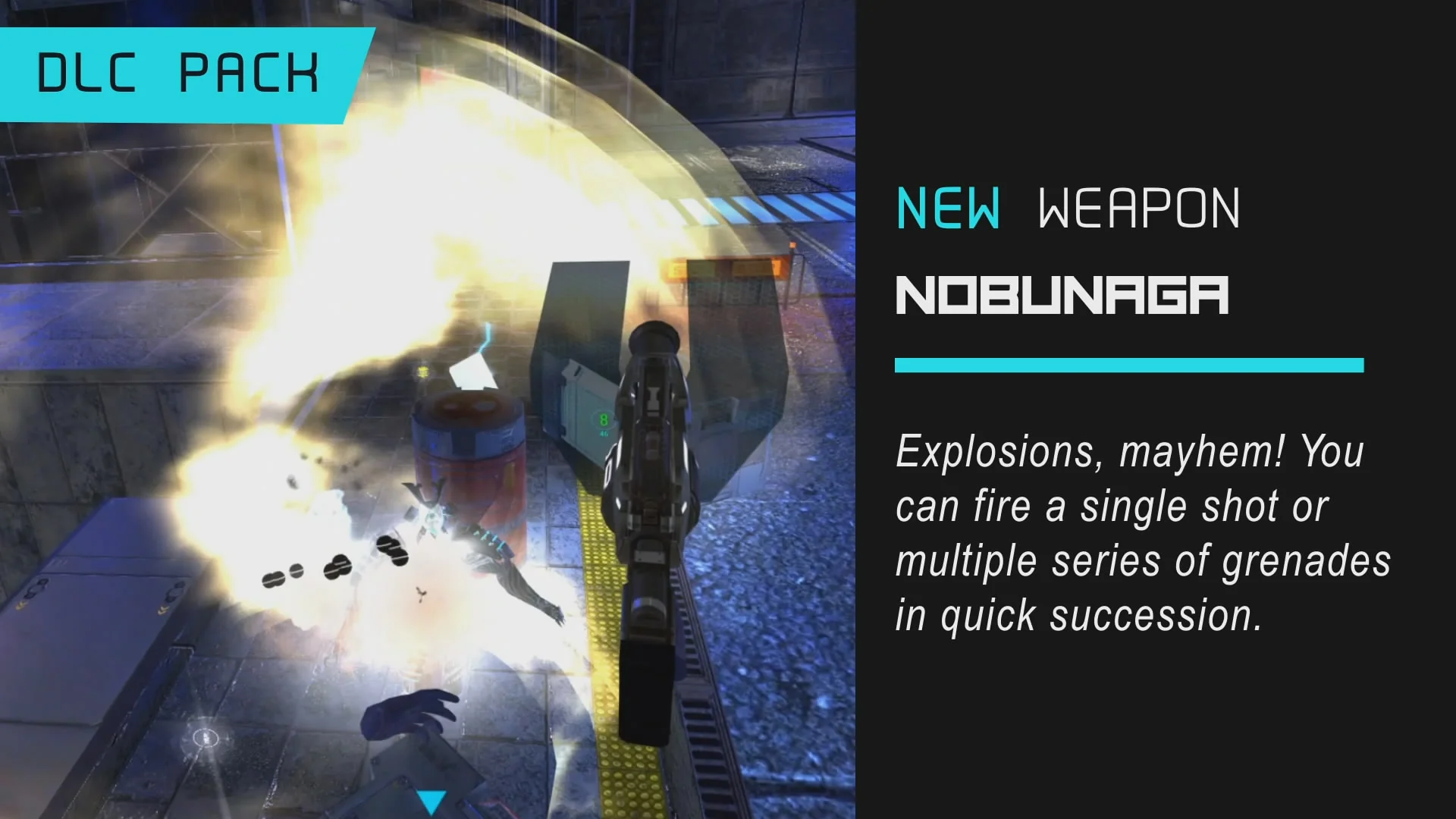 """The Sairento PSVR update finally adds the long-anticipated Nobunaga, the explosive weapon that can fire """"multiple series of grenades in quick succession."""""""