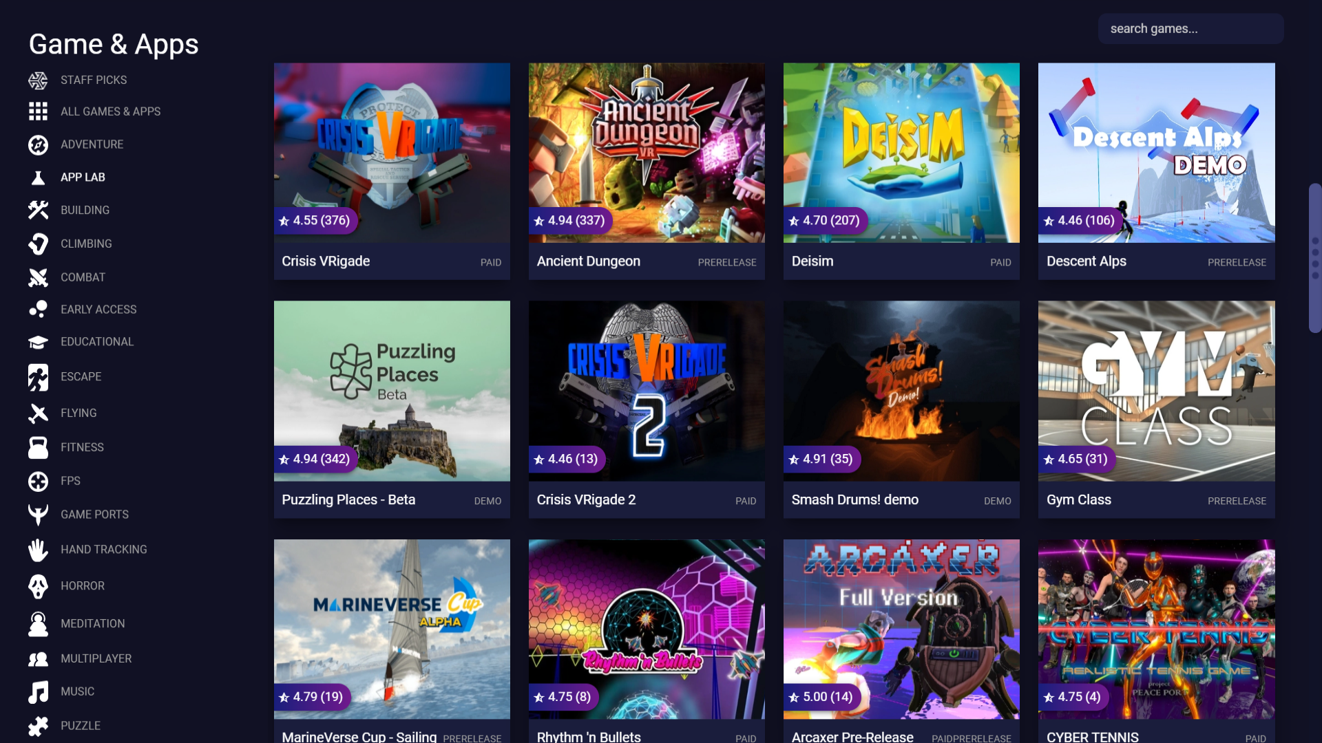 The SideQuest Unofficial Oculus Quest unlisted games and apps store is one of the most popular.