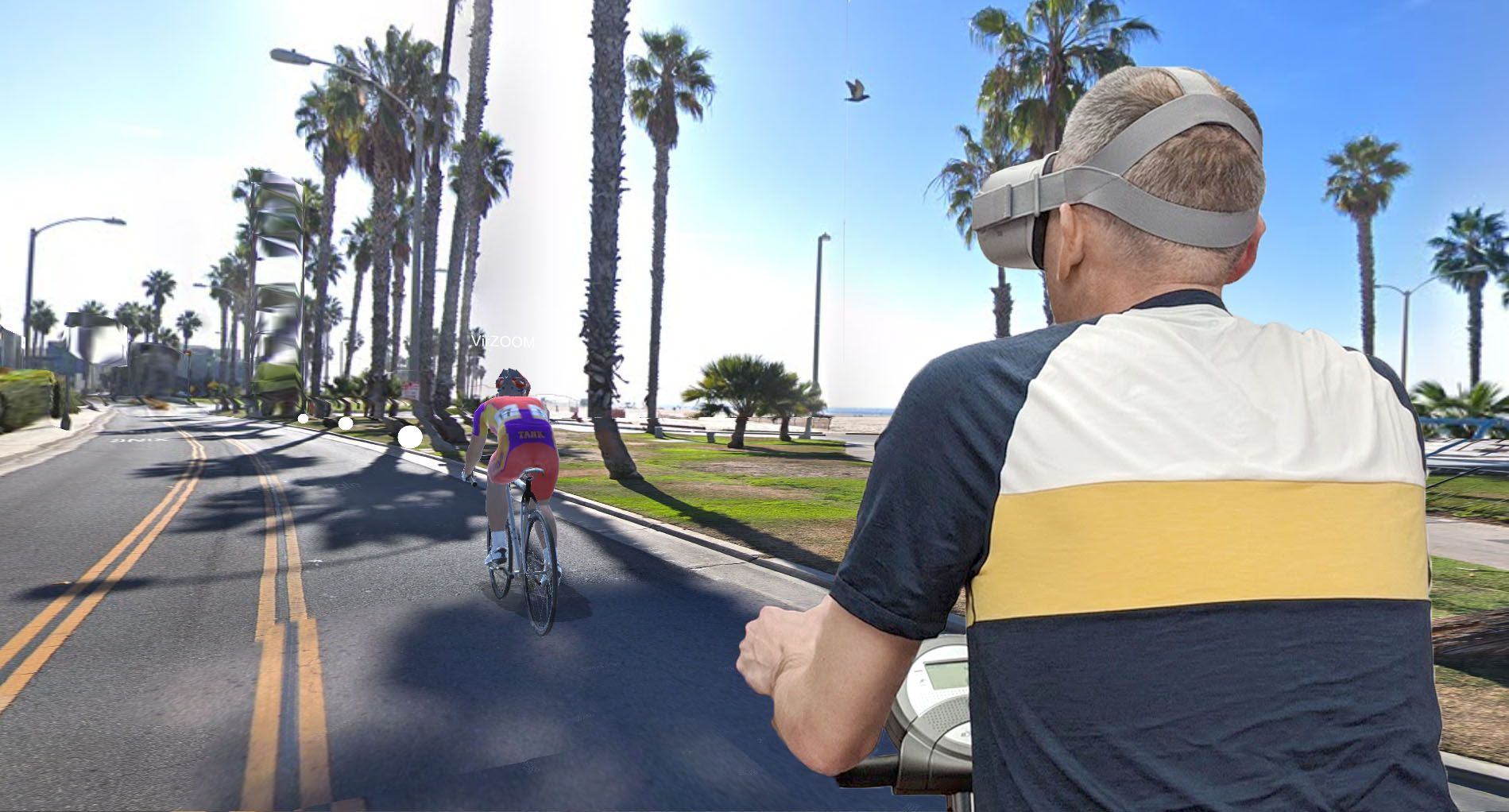 VirZOOM will launched its subscription-based virtual cycling simulator on the Oculus Store this week, fit both smart bike and Google Maps Street View support.