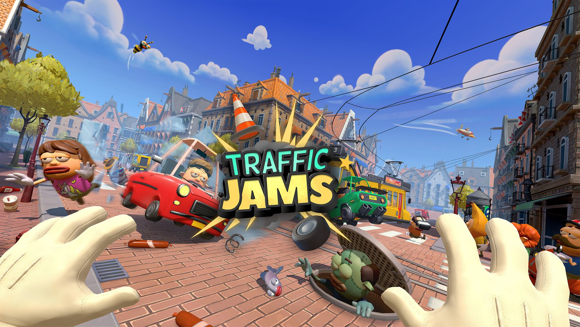 Traffic Jams is a wacky VR action/arcade game developed by Little Chicken Game Company and published by Arizona Sunshine developer Vertigo Games. The game launched last Thursday for SteamVR and Oculus Quest & Rift (with cross-buy support).